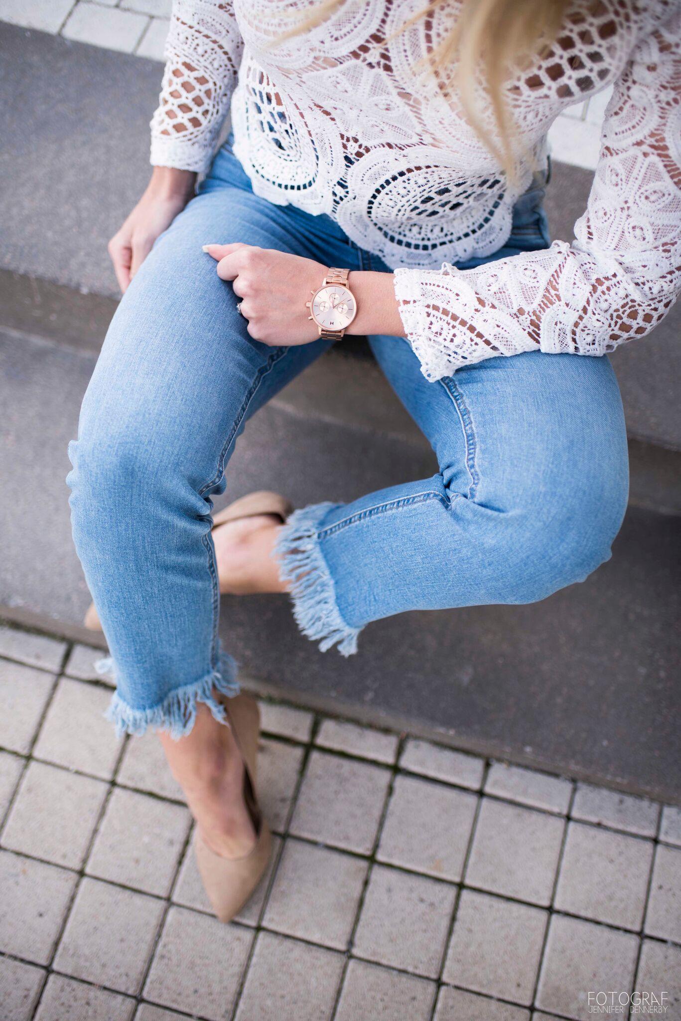 Tawna fashion photo stockholm mvmt white lace high heels